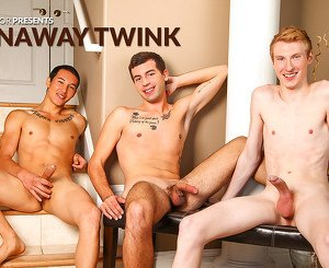 Danny Forest & Ashton Miller & Anthony Scott in Runaway Twink XXX Video