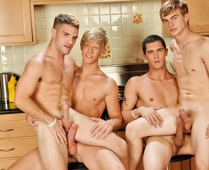 Adam Wirthmore & Alex Waters & Noah Brooks & Jay Kohl in The Twinks Gourmet XXX Video