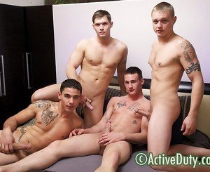 Axl, Bric, Chaz & Kaden Military Porn Video