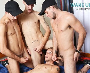 AJ Monroe & Shane Jacobs & Bobby Hudson & Leo Carden in Wake Up Prank Video