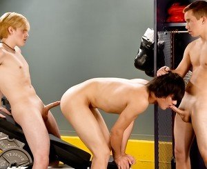 Leon Styles & Nick Reeves & Skyler Pryce in Balls Out In The Gym XXX Video