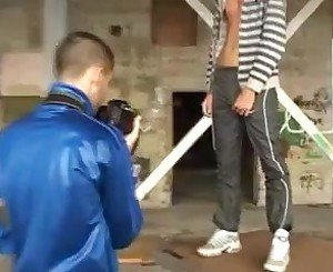 hunks fuck in an abandoned building