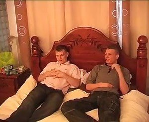 Hot Brit Buddies in Bed