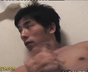 Uncut japanese guy jizzes