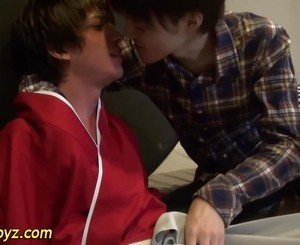 Asian twink blows cock