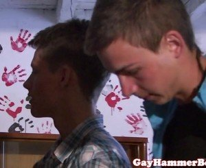 Young barebacking euro twink blowing cock