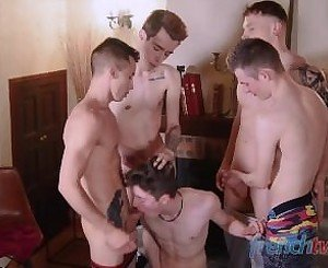 Bukkake session for cute twinks