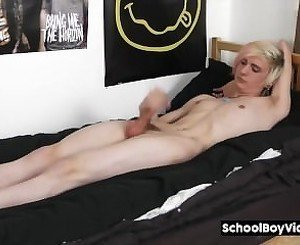 Jason Valentine playing with his huge dick.