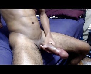 Hung Black Twink Jerking Off