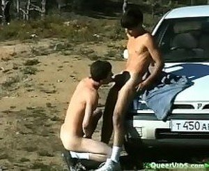 Young Teen Boys Fuck in Public