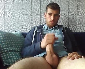 Beautiful Handsome Man With Big Fat Cock On Webcam