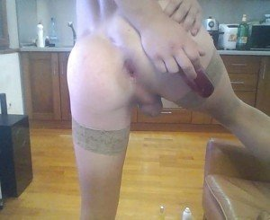 twink slut gaping and moaning