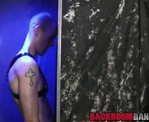 Two horny fetish dudes love to use gloryhole in a toilet