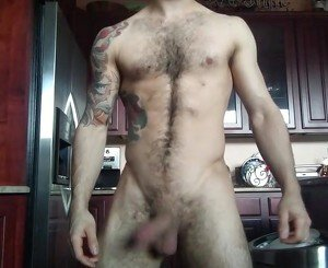 A HOT HAIRY GUY GETTING OFF