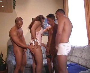 Studs in Hungary fuck girls, each other and an old man